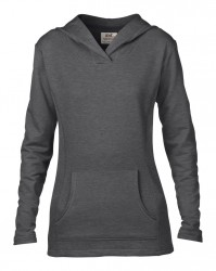 Image 4 of Anvil Ladies Crossneck Hooded Sweatshirt