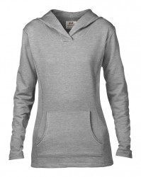 Image 7 of Anvil Ladies Crossneck Hooded Sweatshirt