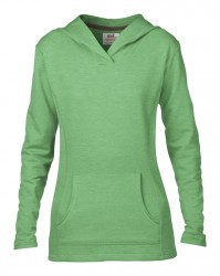 Image 11 of Anvil Ladies Crossneck Hooded Sweatshirt
