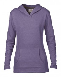 Image 5 of Anvil Ladies Crossneck Hooded Sweatshirt