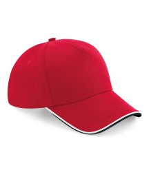 Image 9 of Beechfield Authentic Piped 5 Panel Cap
