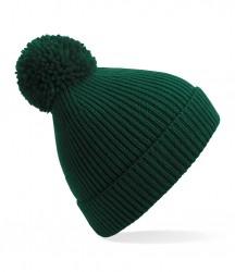 Image 4 of Beechfield Engineered Knit Ribbed Pom Pom Beanie