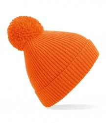Image 12 of Beechfield Engineered Knit Ribbed Pom Pom Beanie