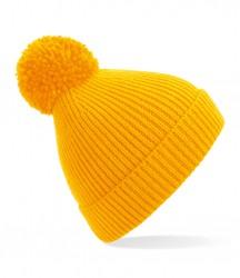 Image 14 of Beechfield Engineered Knit Ribbed Pom Pom Beanie