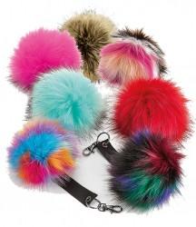Beechfield Faux Fur Pop Pom Key Ring image