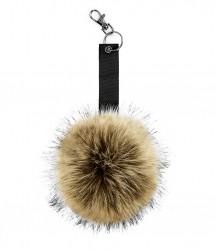 Image 3 of Beechfield Faux Fur Pop Pom Key Ring