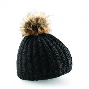 Beechfield Fur Pom Pom Beanie image