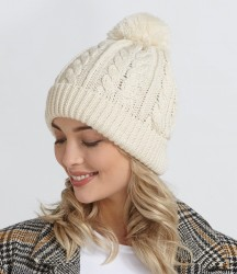 Beechfield Cable Knit Snowstar® Beanie image