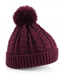 Beechfield Cable Knit Snowstar Beanie image