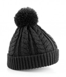 Image 3 of Beechfield Cable Knit Snowstar® Beanie