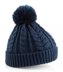 Image 4 of Beechfield Cable Knit Snowstar® Beanie