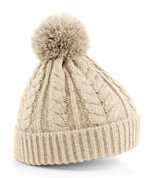 Image 5 of Beechfield Cable Knit Snowstar® Beanie
