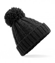 Image 2 of Beechfield Cable Knit Melange Beanie