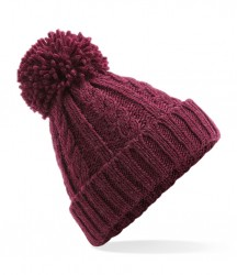 Image 6 of Beechfield Cable Knit Melange Beanie