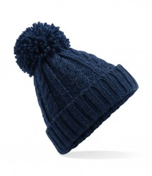 Image 3 of Beechfield Cable Knit Melange Beanie