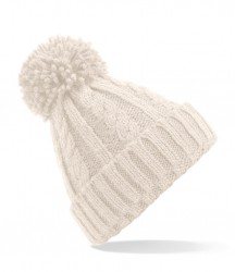 Image 4 of Beechfield Cable Knit Melange Beanie