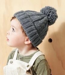 Beechfield Infant Cable Knit Melange Beanie image