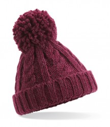 Image 3 of Beechfield Infant Cable Knit Melange Beanie