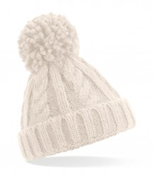 Image 5 of Beechfield Infant Cable Knit Melange Beanie