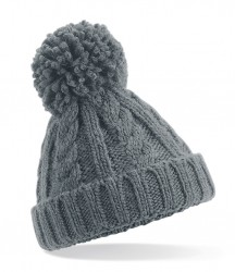 Image 3 of Beechfield Junior Cable Knit Melange Beanie