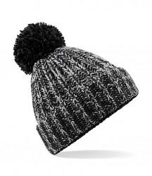Image 2 of Beechfield Twist-Knit Pom Pom Beanie