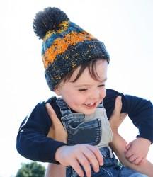 Image 1 of Beechfield Infant Corkscrew Pom Pom Beanie