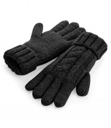 Image 2 of Beechfield Cable Knit Melange Gloves