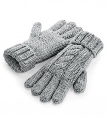 Image 3 of Beechfield Cable Knit Melange Gloves