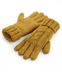 Image 4 of Beechfield Cable Knit Melange Gloves