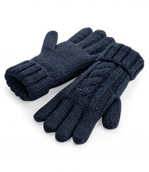 Image 5 of Beechfield Cable Knit Melange Gloves