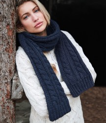 Image 1 of Beechfield Cable Knit Melange Scarf