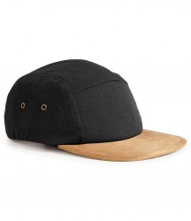Image 2 of Beechfield Suede Peak 5 Panel Cap