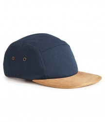 Image 3 of Beechfield Suede Peak 5 Panel Cap