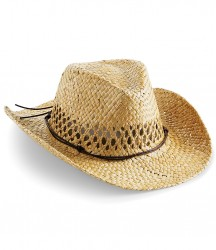 Image 2 of Beechfield Straw Cowboy Hat