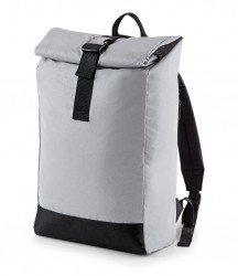 Image 3 of BagBase Reflective Roll-Top Backpack