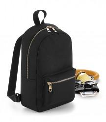 BagBase Metallic Zip Mini Backpack image