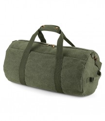 Image 3 of BagBase Vintage Canvas Barrel Bag