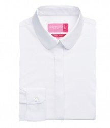 Image 4 of Brook Taverner Ladies Trevi Long Sleeve Poplin Shirt