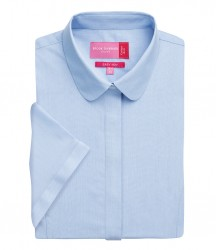Image 3 of Brook Taverner Ladies Soave Short Sleeve Poplin Shirt