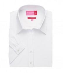 Image 4 of Brook Taverner Ladies Paduli Short Sleeve Poplin Shirt