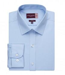 Image 3 of Brook Taverner Alba Long Sleeve Slim Fit Poplin Shirt