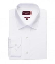 Image 4 of Brook Taverner Alba Long Sleeve Slim Fit Poplin Shirt