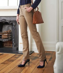 Image 1 of Brook Taverner Ladies Houston Slim Leg Chino Trousers