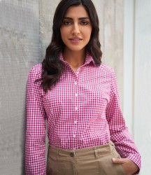 Image 1 of Brook Taverner Ladies Kansas Gingham Long Sleeve Shirt