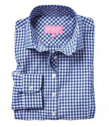 Image 2 of Brook Taverner Ladies Kansas Gingham Long Sleeve Shirt