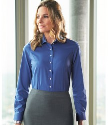 Brook Taverner Ladies Aspen Long Sleeve Oxford Shirt image