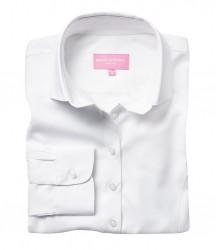 Image 4 of Brook Taverner Ladies Aspen Long Sleeve Oxford Shirt