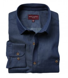 Image 2 of Brook Taverner Jasper Long Sleeve Chambray Shirt