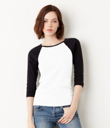 Bella Ladies Baby Rib 3/4 Sleeve Contrast T-Shirt image