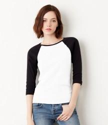 Bella Baby Rib 3/4 Sleeve Contrast T-Shirt image